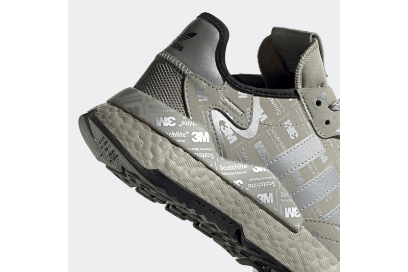 "adidas Nite Jogger ""Metal Grey / Silver Metallic / Metal Grey"" ""Hi-Res Red / Silver Metallic / Hi-Res Red"" BOOST Technology Sneakers Footwear Three Stripes Release Information 3M Detailing Print Scotchlite Closer Look"