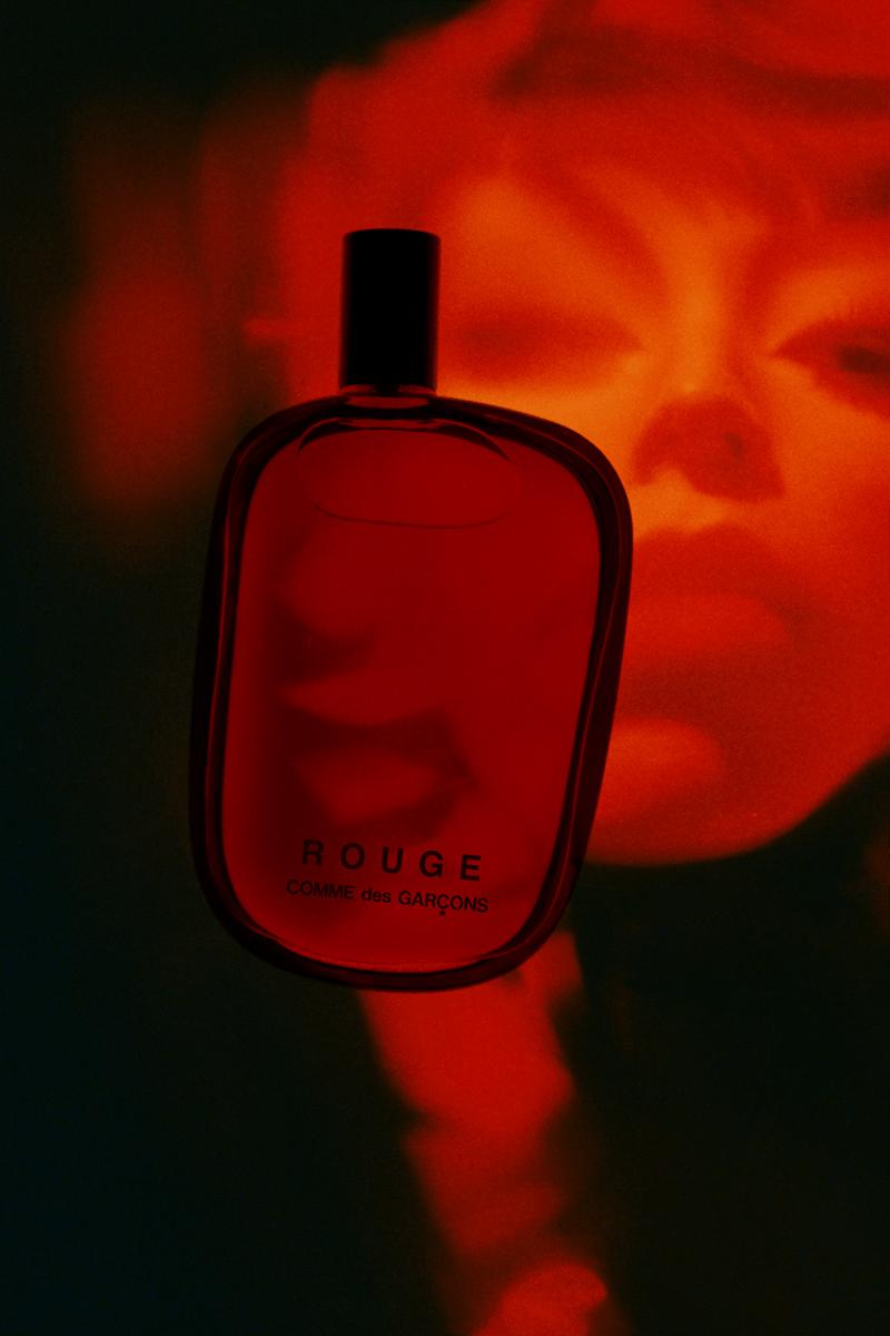 """COMME des GARÇONS Parfums """"ROUGE"""" Fragrance Launch Jordan Hemingway Campaign Release Information Scents Dover Street Market Eau de Parfum 100ml Bottle"""