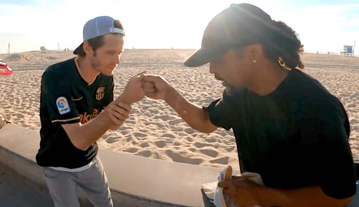 The Nine Club's Hosts Enjoy a Curb Sesh At The Beach