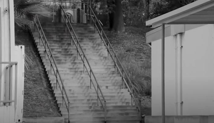 Watch Nyjah Huston Backside 5-0 This 34-Stair Handrail
