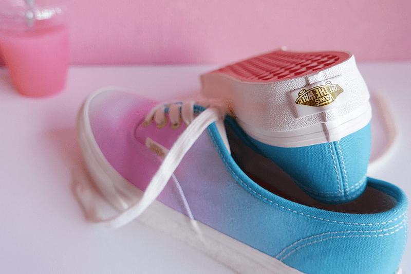 Vans Charlotte Shibuya Aya Kawasaki Collaboration Peach Soda Sneaker ombre pink blue