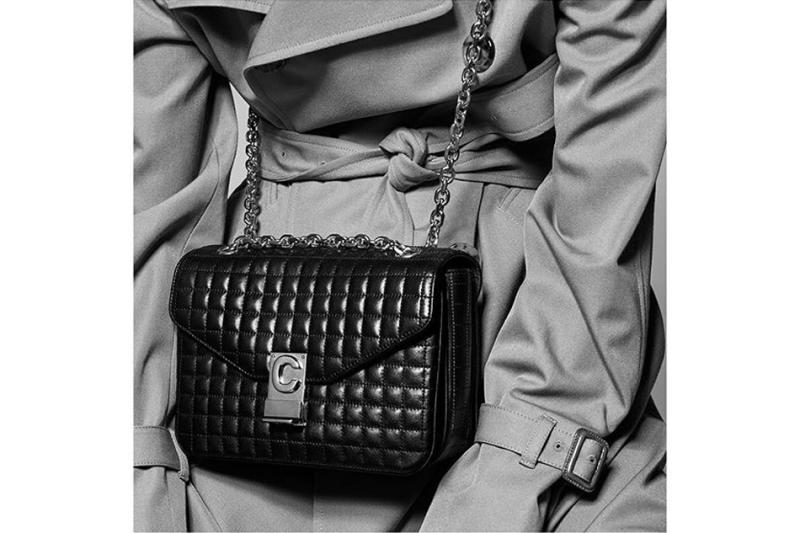 Celine C Monogram Bag Black Hedi Slimane