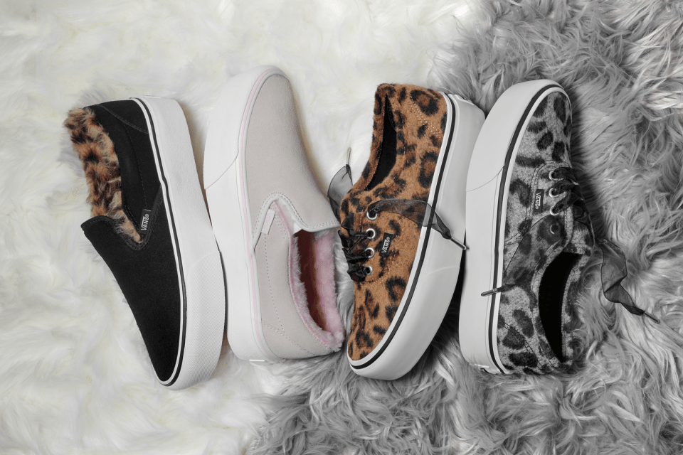 Vans Provides Authentic Platform And Slip On A Fuzzy Leopard