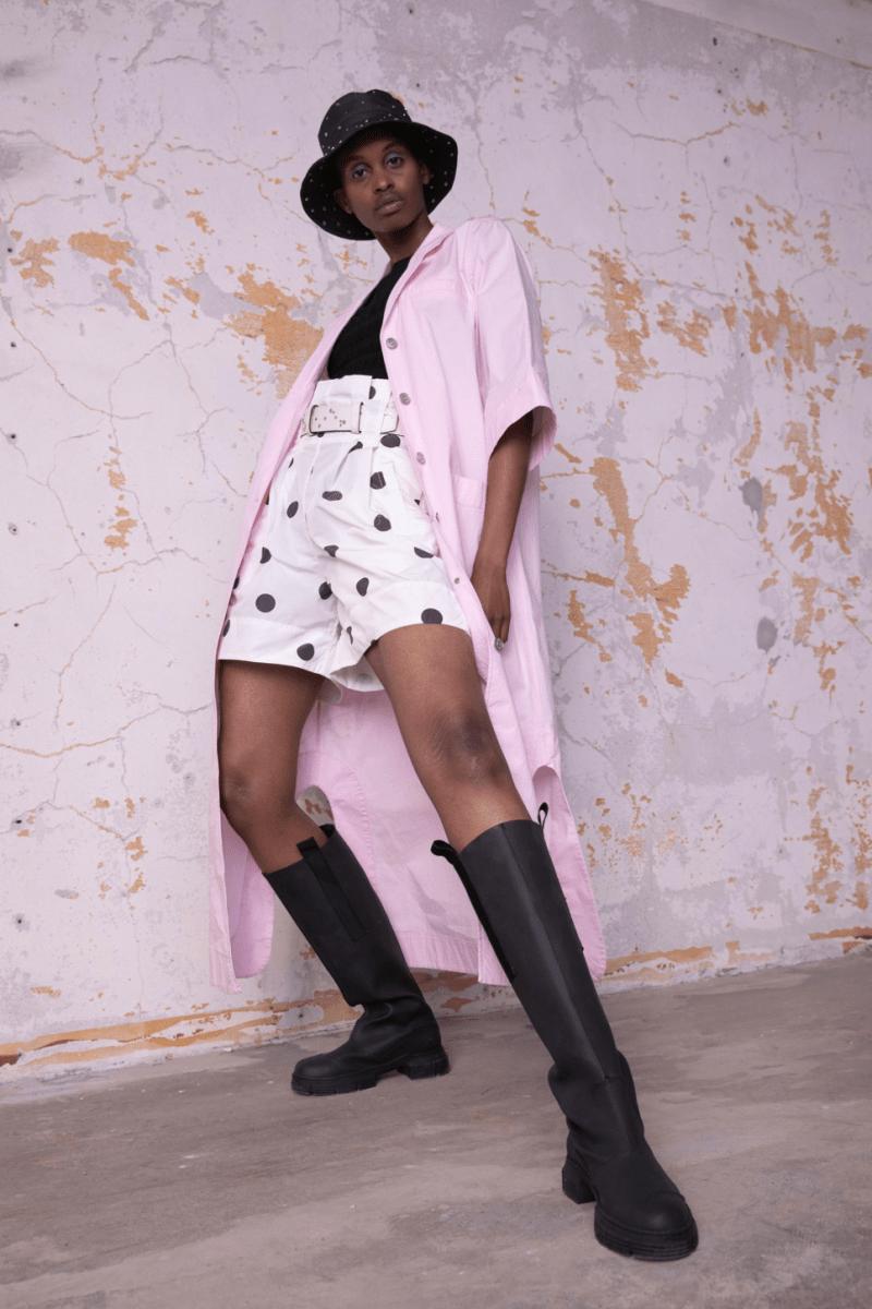GANNI Pre-Fall 2020 Collection Lookbook Shorts Polka Dot
