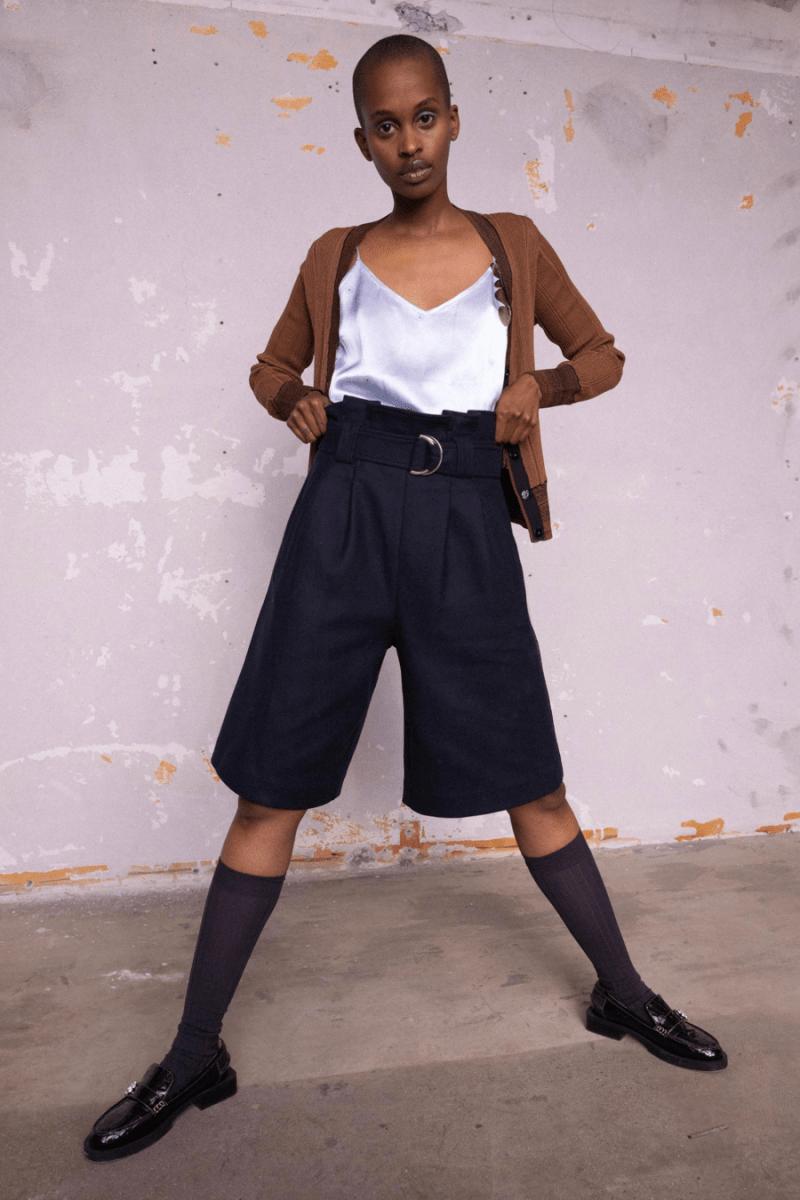 GANNI Pre-Fall 2020 Collection Lookbook Shorts Black Cami Silk