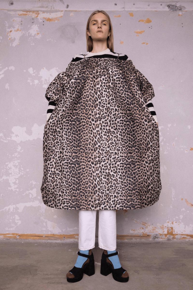 GANNI Pre-Fall 2020 Collection Lookbook Coat Leopard