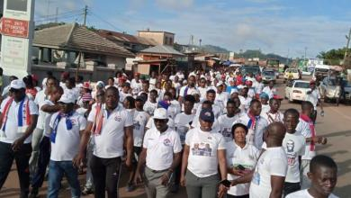 Bibiani NPP Walk For peace and cooperation