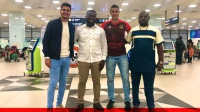 Kotoko's newest Brazilian player Michael Vinicius arrives in Ghana