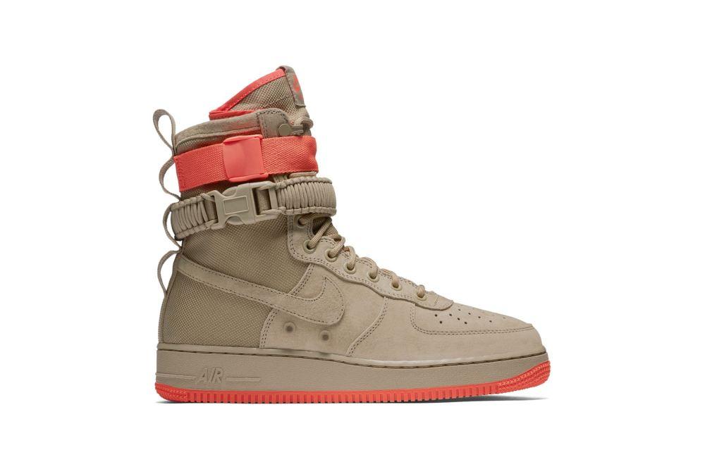 Nike SF-AF1 'Khaki/Coral' [SneakPeak] nike special field air force 1 khaki coral 1