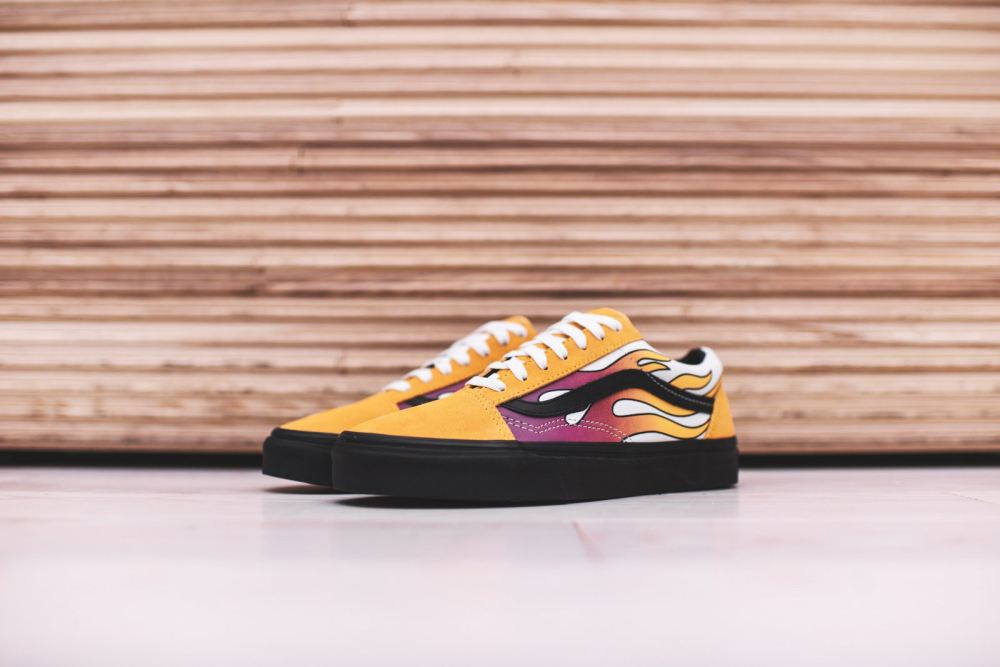 Vans 'Flame' Classics [SneakPeak] vans black yellow neon slip on 0