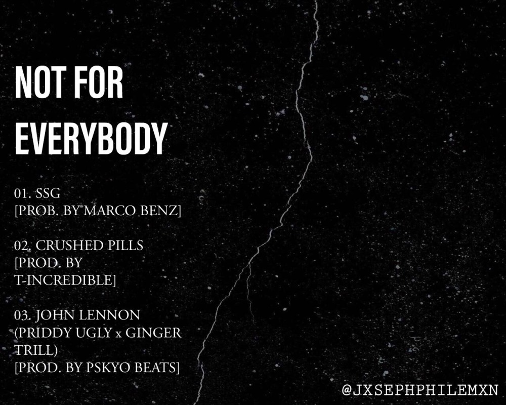 Listen To This New 'NOT FOR EVERYBODY' EP By Joseph Philemon image2