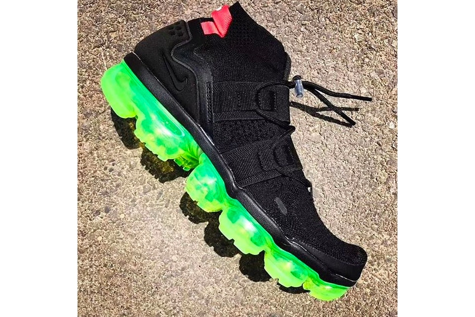 air vapormax Nike Added A Bright Neon Sole To The Air VaporMax Utility Model nike vapormax utility black neon first look 001