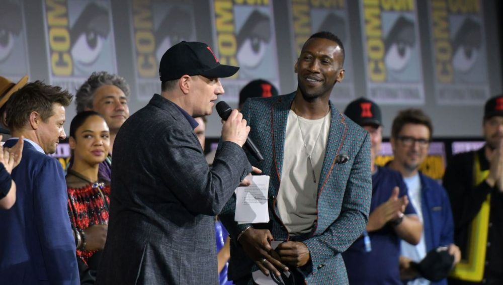 marvel phase 4 Here Are All The Marvel Phase 4 Movies, Disney+ Shows & Series Coming Up kevin feige mahershala ali hall h curtain call