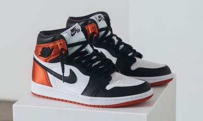 Take A Look At The Luxe 'Satin Black Toe' Nike Air Jordan 1 For Ladies nike air jordan 1 satin black toe release date price 02
