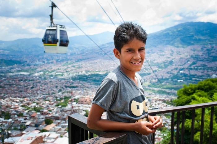 Boy in Medellín
