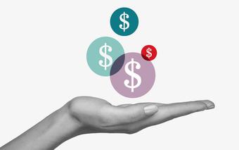Hand Dollar Bubbles
