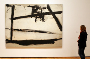 A frame-less Kline at MoMA (via Ozier Muhammad/The New York Times)