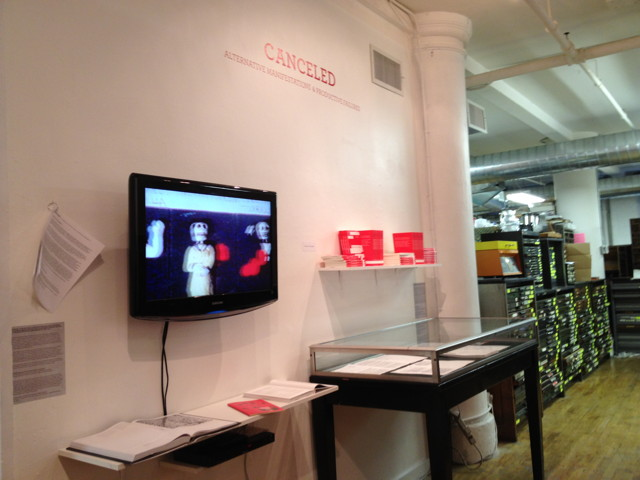 """Installation view of """"Canceled"""""""