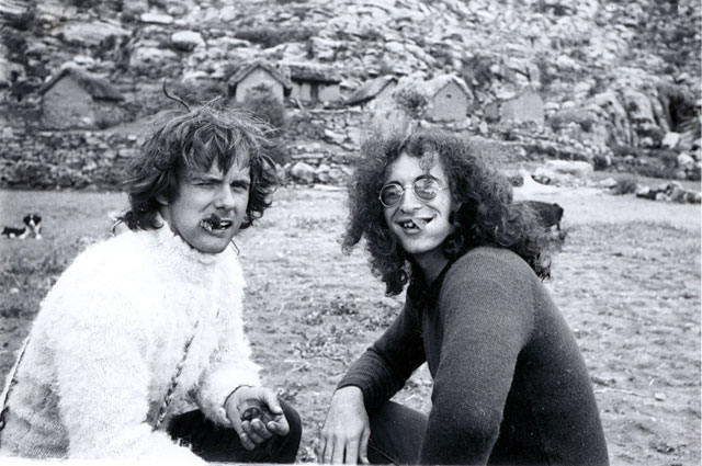 Gordon Matta-Clark with Jeffrey Lew, circa 1971
