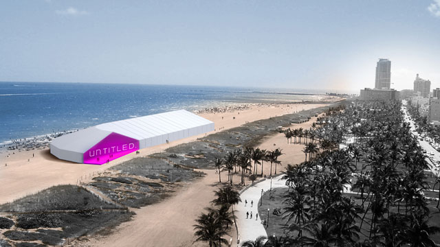 An aerial rendering of the Untitled tent designed by K/R