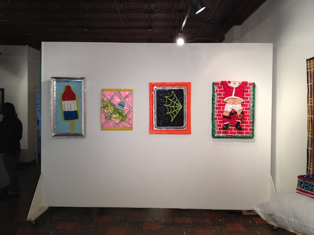 Paul Perkins at Peanut Gallery installation shot (All photos by author)