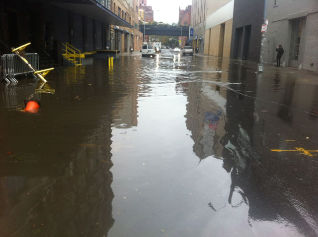 Flooding in the streets of Chelsea (photo by Lindsay Howard)