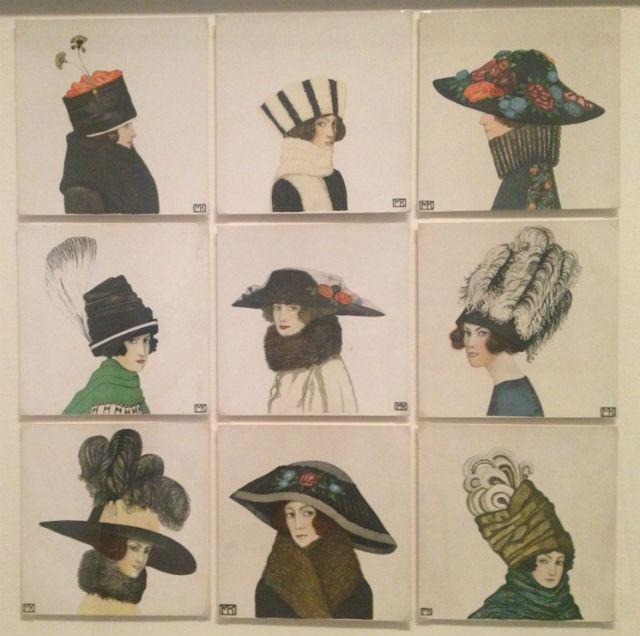 Mela Koehler's collectible postcards of hats