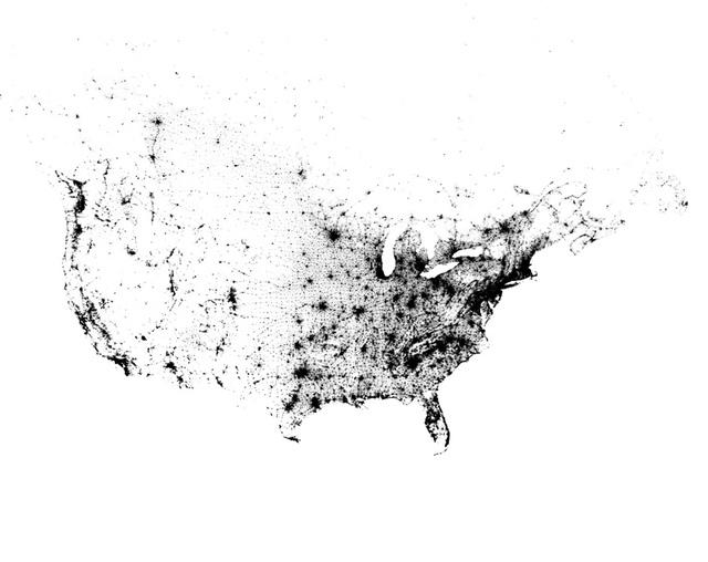 Census Dotmap via bmander.com