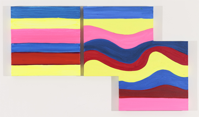 """Mary Heilmann, """"Mojave Mirage"""" (2012). Oil on canvas, 30 x 50 inches"""