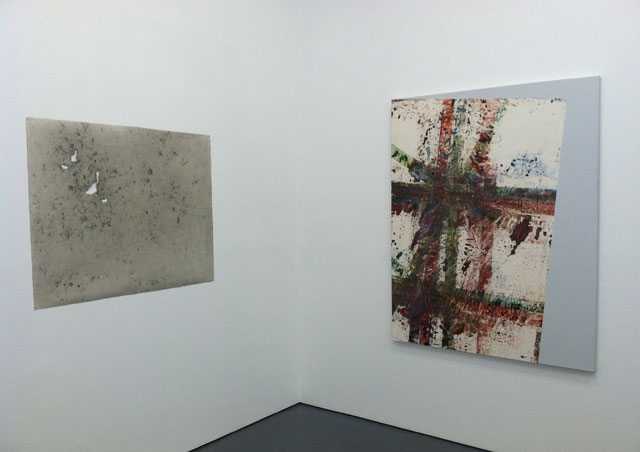 """Installation view, """"The New Brutalists"""" at Parallel Art Space (photo by the author for Hyperallergic)"""