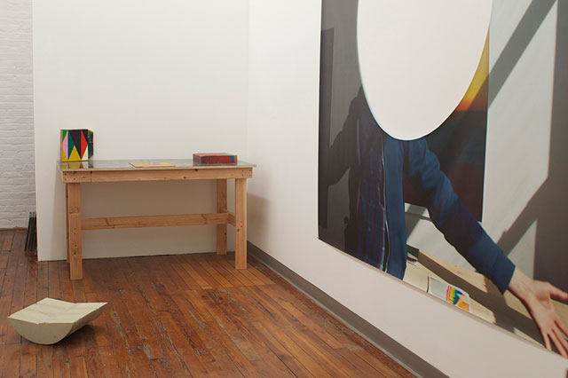 """Installation view, Nathan Dillworth, """"Second Set"""" at Picture Menu (photo courtesy the gallery)"""