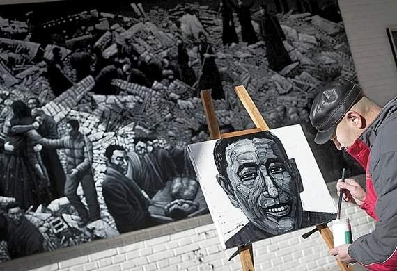 Painter Liu Yi (Image via bendbulletin)