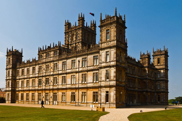 The shooting location for Downton Abbey, Highclere Castle (Photo by Richard Munckton)