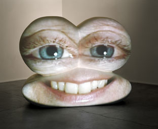 "Tony Oursler, ""Caricature"" (2002) (Image via magasin3.com)"