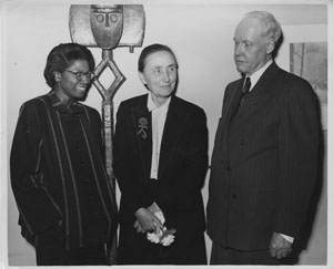 Fisk student Edythe Paulin, Georgia O'Keeffe, and  Carl Van Vechten.  (courtesy Fisk University Franklin Library's Special Collections)