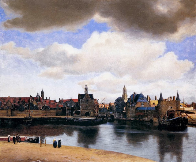 Johannes Vermeer, View of Delft, 1660-61, Oil on canvas, 98,5 x 117,5 cm, Mauritshuis, The Hague