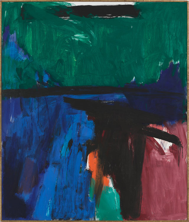 """Franz Kline's """"Provincetown II"""" (1959), oil on canvas, 93 x 79 in, heralds the return of postwar American painting at Art Basel. (image courtesy Mitchell-Innes & Nash, New York)"""