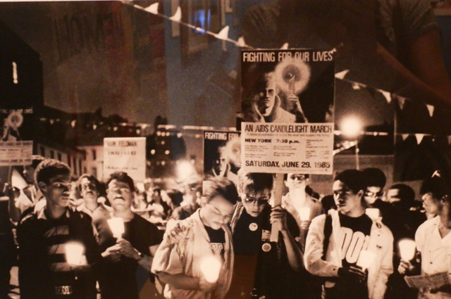 Candlelight March, 1985, photographic print
