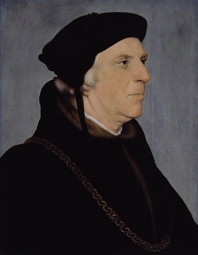 """Smalt used in Hans Holbein the Younger's """"Sir William Butts"""" (1540–43) (via National Portrait Gallery/Wikimedia)"""