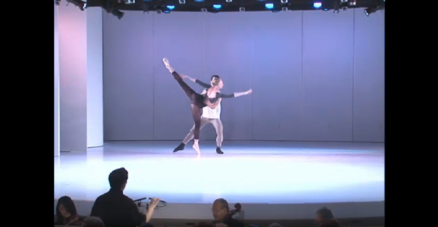 """Still from """"New York City Ballet: Choreography by Justin Peck with Music by Sufjan Stevens"""" on Works & Process at the Guggenheim (screenshot via Works & Process)"""