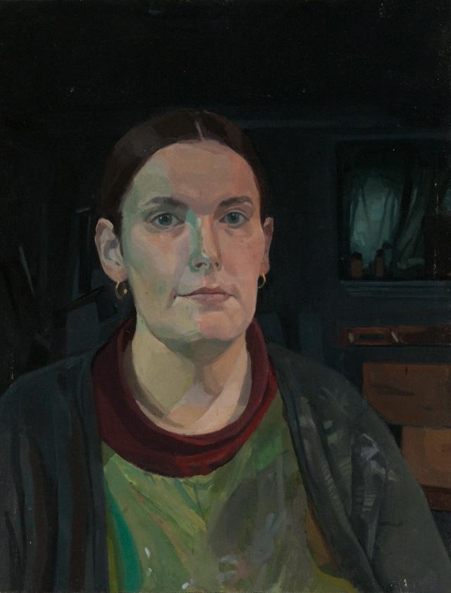 "Catherine Murphy, ""Basement Self-Portrait"" (1969) (all images courtesy Peter Freeman, Inc.)"