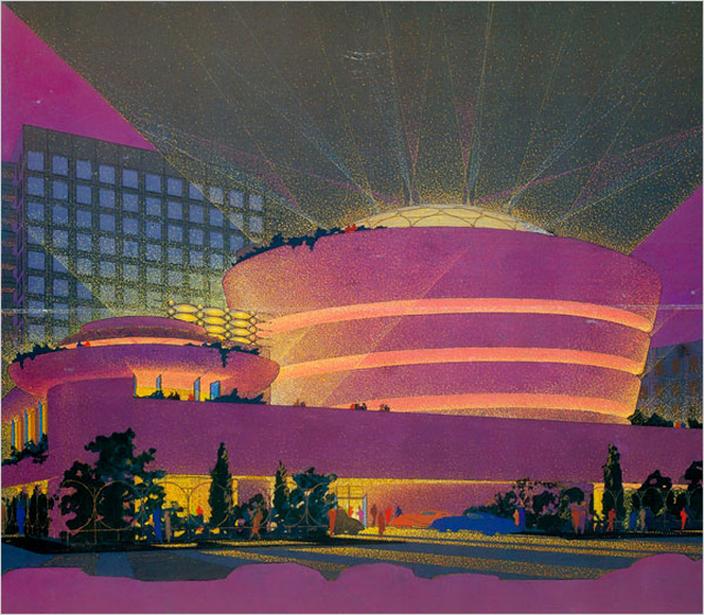 Frank Lloyd Wright's Pink Guggenheim (courtesy The Solomon R. Guggenheim Foundation)