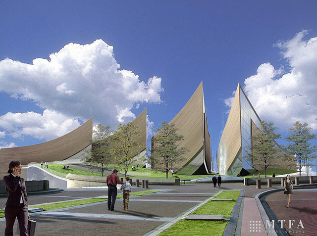 Proposed design for the National Museum of American People (via Wikimedia)