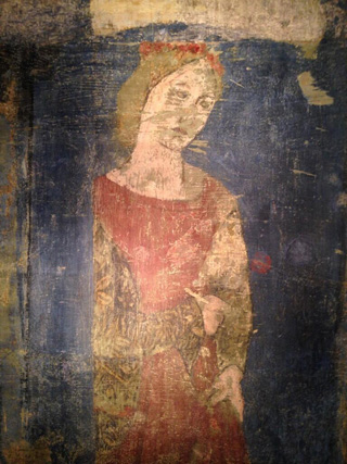 The figure of Rachel, after conservation (click to enlarge)