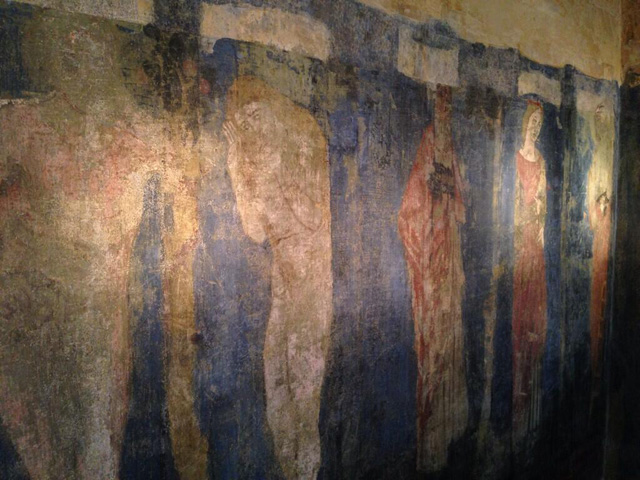 The newly discovered bedroom mural at the Red House, attributed to William Morris, Edward Burne-Jones, Dante Gabriel Rossetti, Elizabeth Siddal, and Ford Madox Brown