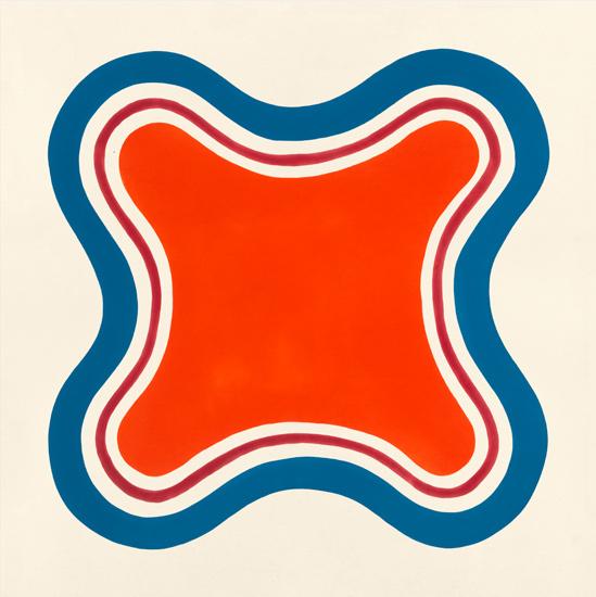 "Paul Feeley, ""Petono"" (1962), oil-based enamel on canvas, 60 x 60 inches"