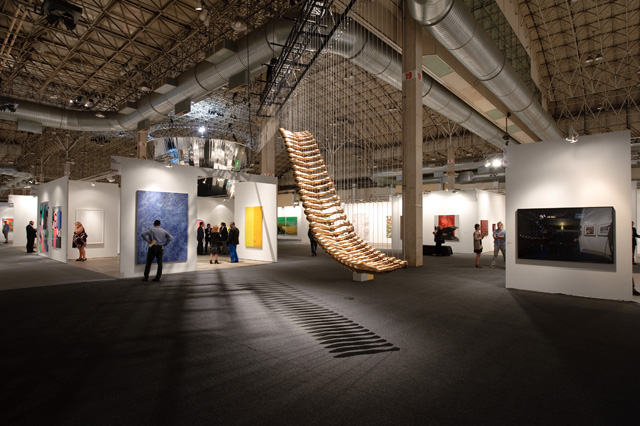 "A view of Glenn Kaino's  ""Bridge,"" which was featured in the IN/SITU section of the fair. (Photo by Cheri Eisenbeg, and provided by Expo Chicago)"