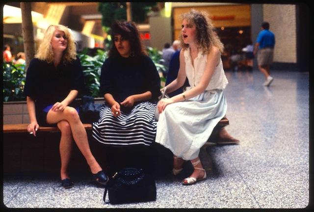 """Three Girls Smoking"" from Michael Galinksy's project ""Malls Across America"""
