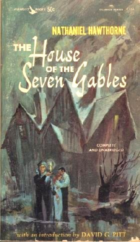 """A vintage paperback cover of Nathaniel Hawthorne's """"The House of Seven Gables"""""""