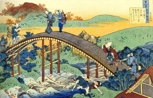 A print by Edo period artist Hokusai (via notjustnat.blogspot.com)